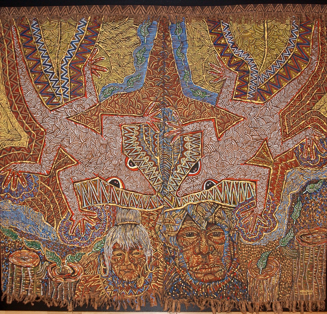 The Vanishing People and Culture, Acrylic on canvas tapestry, 250cm x 275cm (1995)