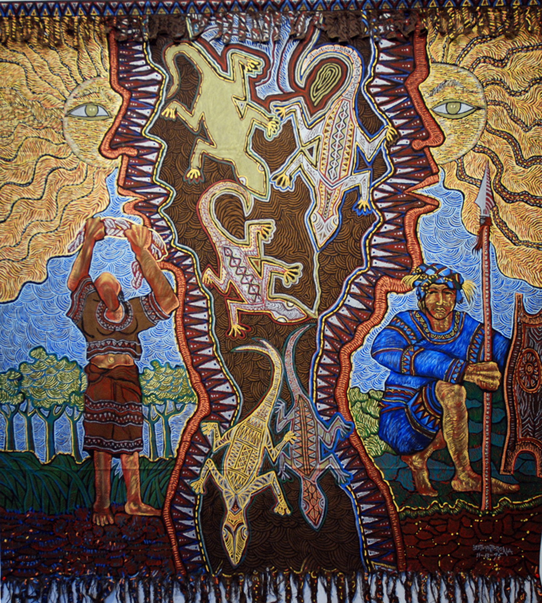 Thanks Giving, Mixed media, 184 x 204 cm, (1995)